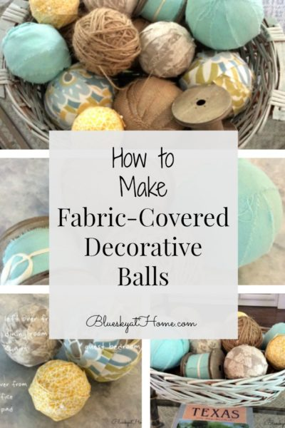 how to make fabric-covered decorative balls graphic