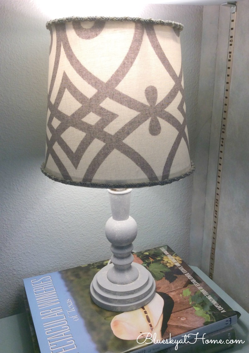 lighted fabric covered lamp