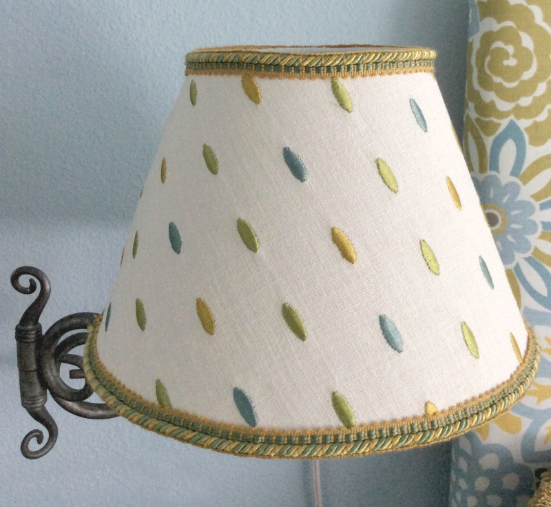 fabric covered lamp shade