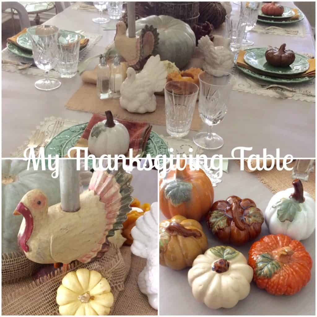 Setting my Thanksgiving Table
