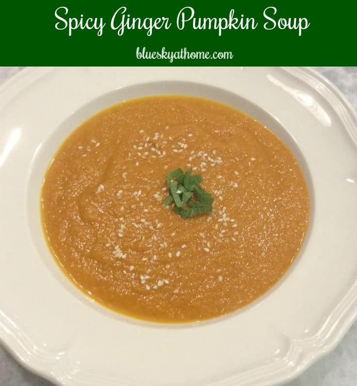 Spicy Ginger Pumpkin Soup With Sesame Seeds