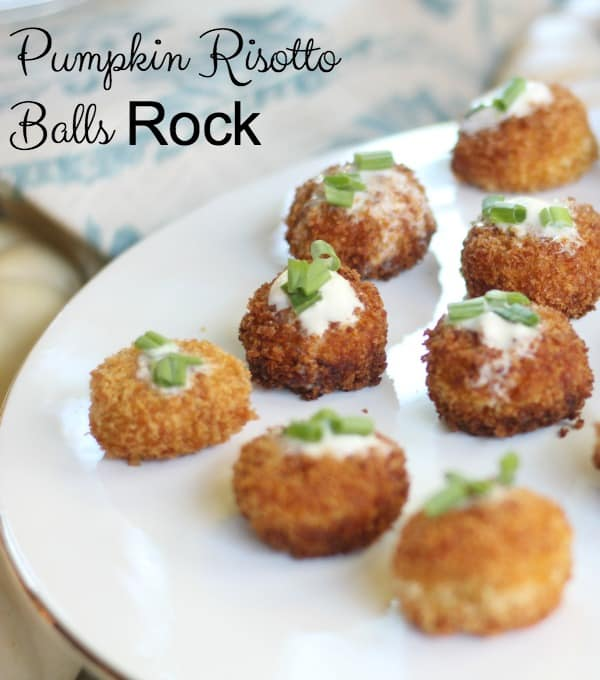Pumpkin Risotto Bites Need to Be in Your Recipe Box ~ an easy, make~ahead appetizer that your guests will love and you will love to serve.