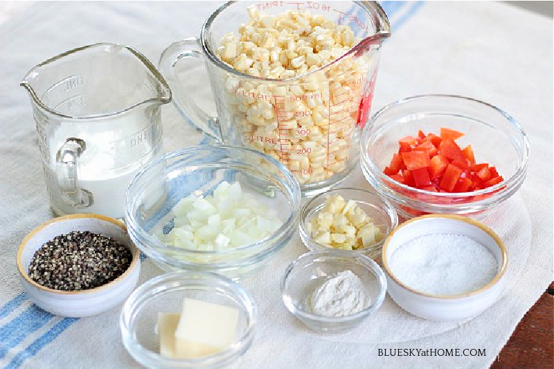 creamed corn mise place