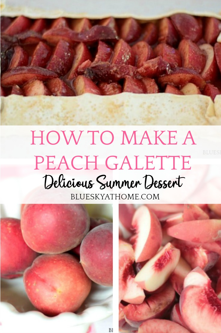 how to make a peach galette graphic