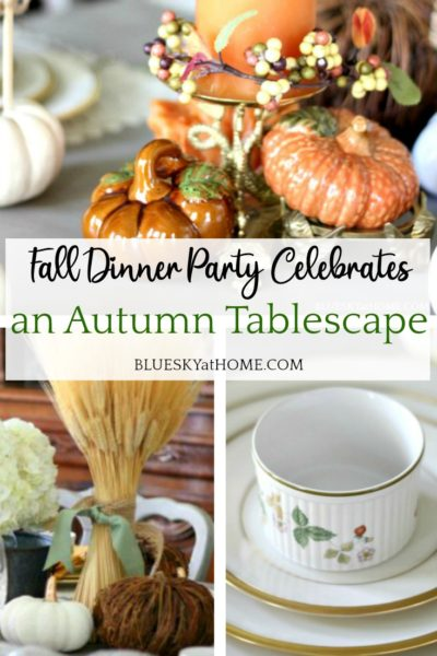traditional autumn tablescape
