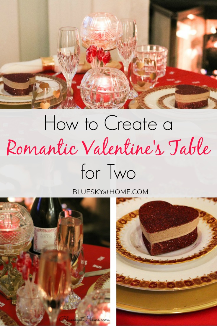 romantic valentine table for two graphic
