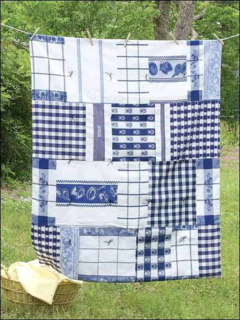 10 Fun, Easy Projects for Repurposing Dish Towels ~ Bluesky