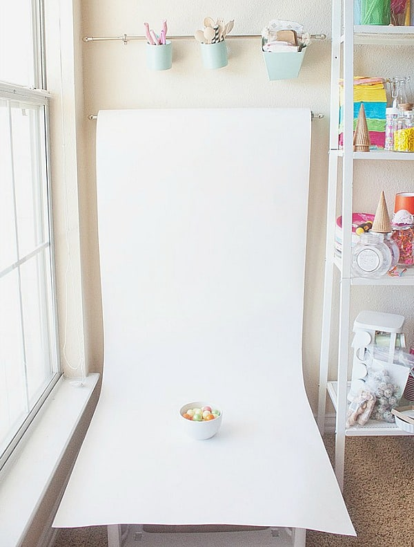 How to Create a Simple Photo Station in 32 Inches shows you an easy way to set up a designated place to take photos for your blog or social media.
