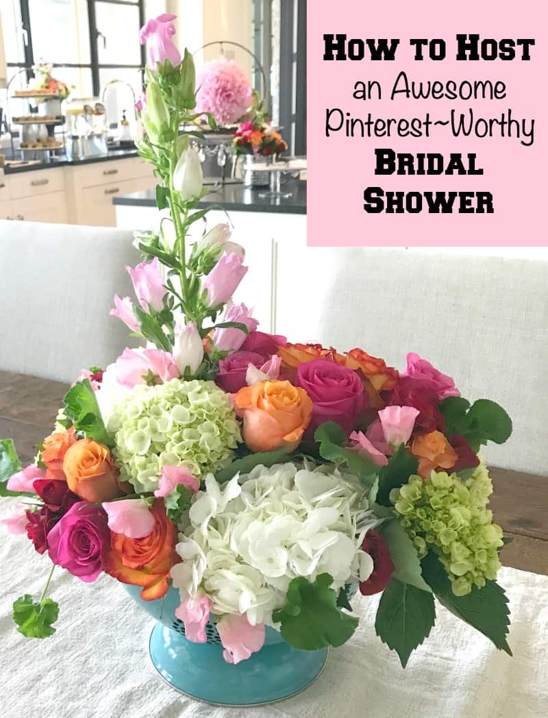 How to Host a Bridal Shower that is Pinterest~Worthy. Some great ideas for how to make a bridal shower personal, pretty and fun.