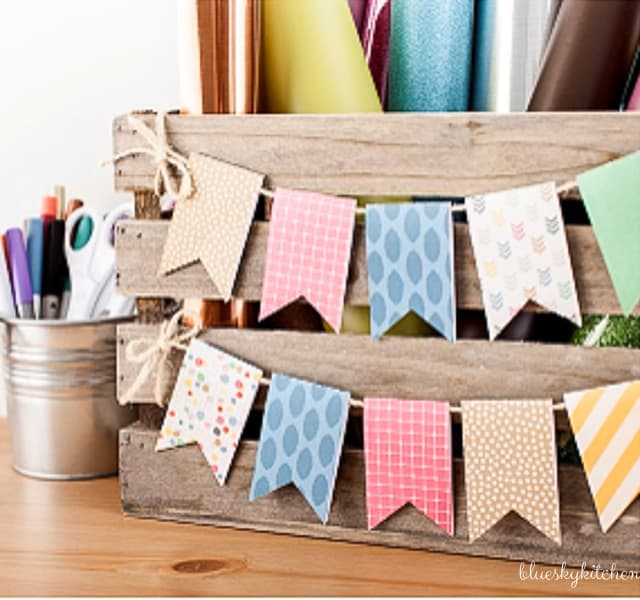 How To Make An Easy Diy Birthday Banner For A Little Girl Bluesky