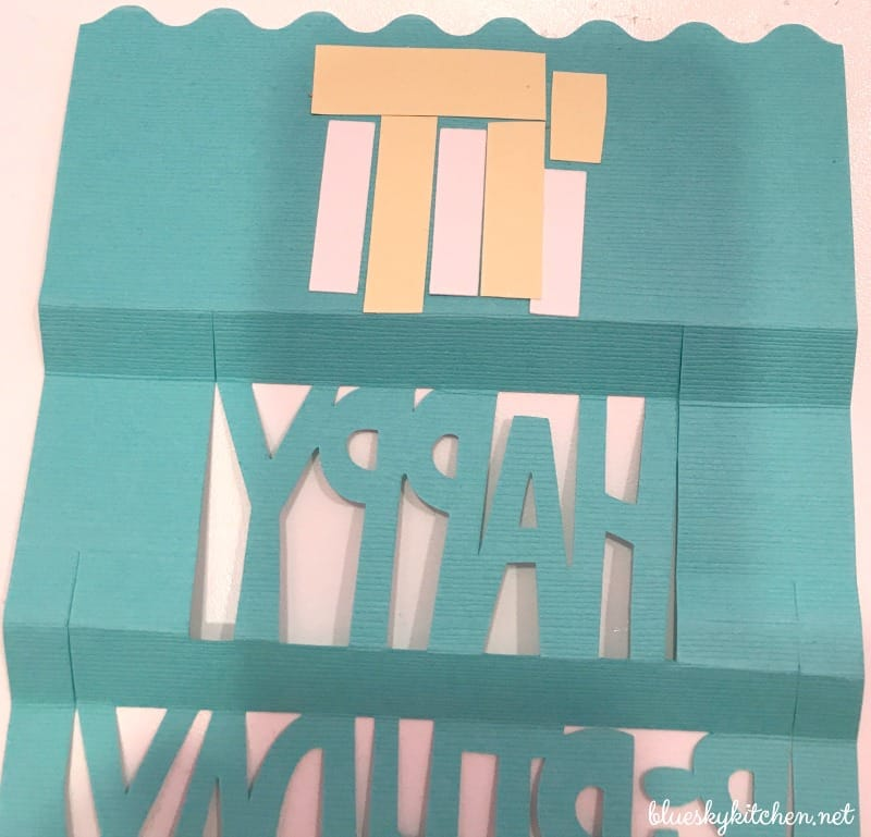 How To Make A Birthday Card With A Cricut Explore Air Bluesky At Home