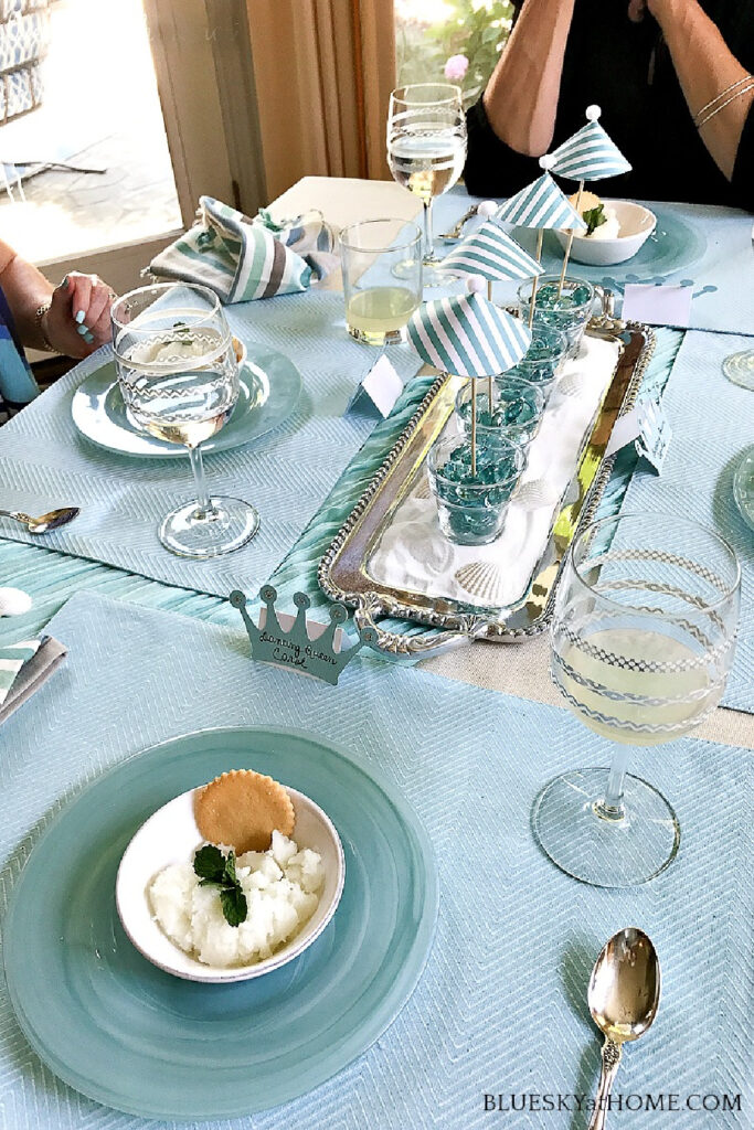 table set for Mediterranean lunch