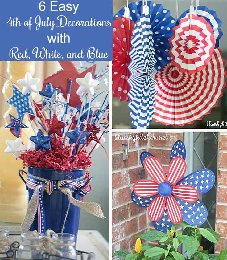 30 Patriotic Home Decoration Ideas In White Blue And Red: 6 Easy 4th Of July Decorations With Red, White, And Blue