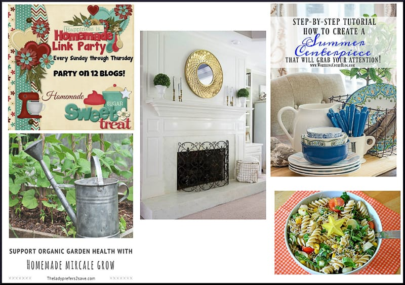Happiness is Homemade Link Party #176 shares DIY, crafts, home decor, recipes, party decorations, tablescapes, garden and patio ideas.
