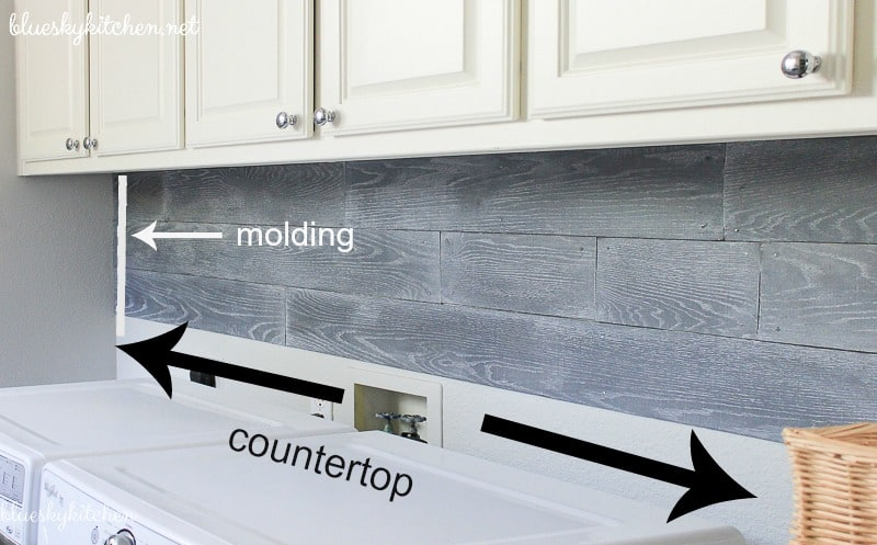 countertop dimensions for laundry room project
