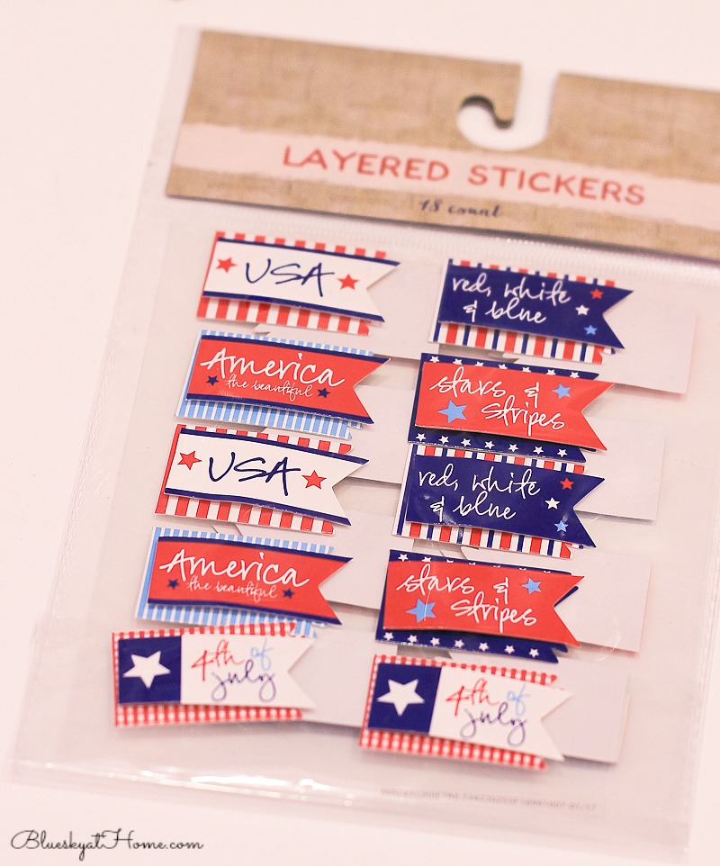 Make an Easy Wreath for the 4th of July. DIY decoration with items from the dollar store at Target. BlueskyatHome.com #4thofJulydecorations #July4th
