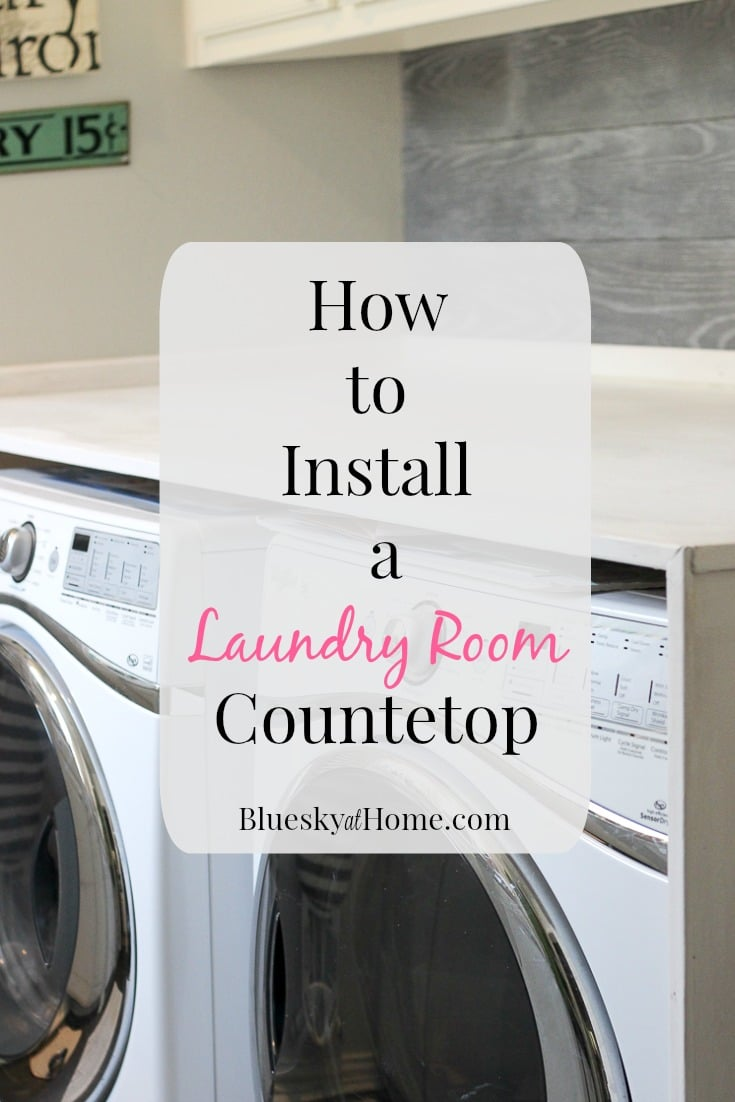 Install A Laundry Room Countertop