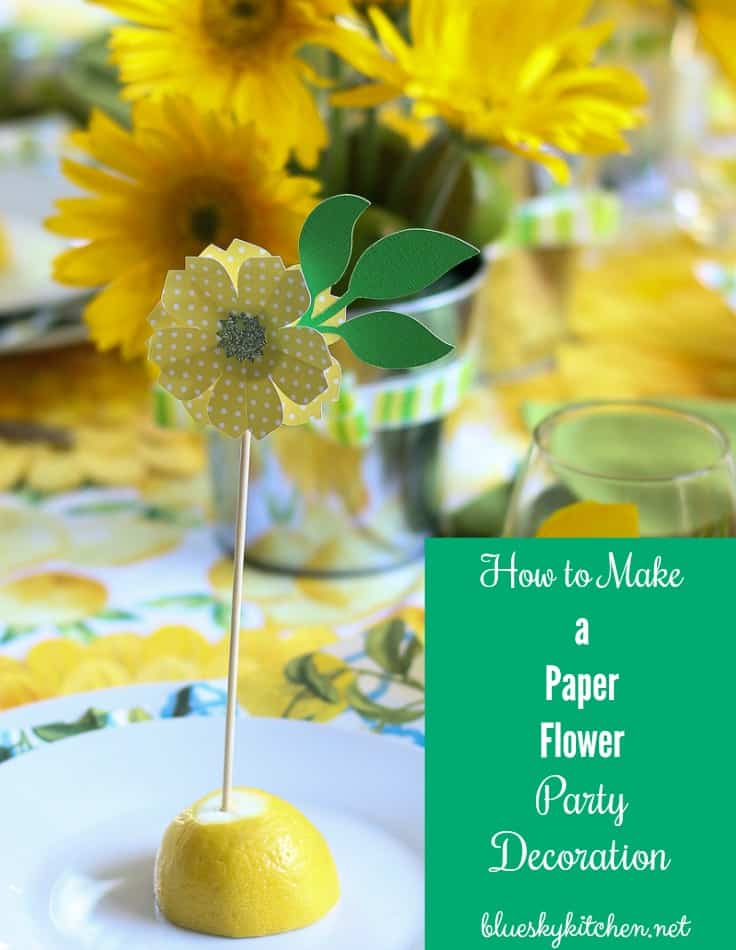 How To Make The Cutest Paper Flower Party Decorations Bluesky At Home