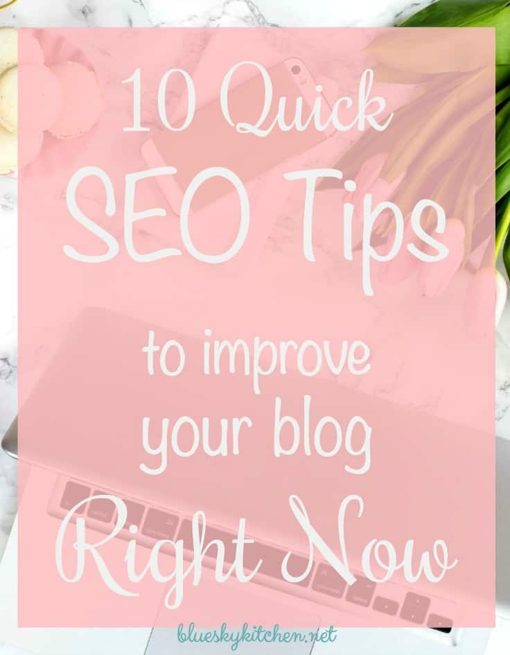 SEO Tips ~ 10 Quick and Easy Fixes to Use Right Now