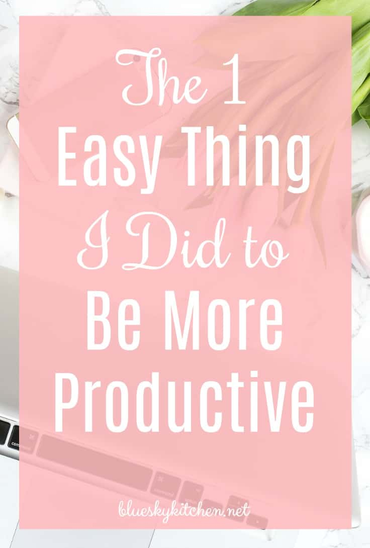 The 1 Easy Thing I DId to be More Productive. We have the same hours in the day to be productive. Here's 1 easy change I made in my daily routine.