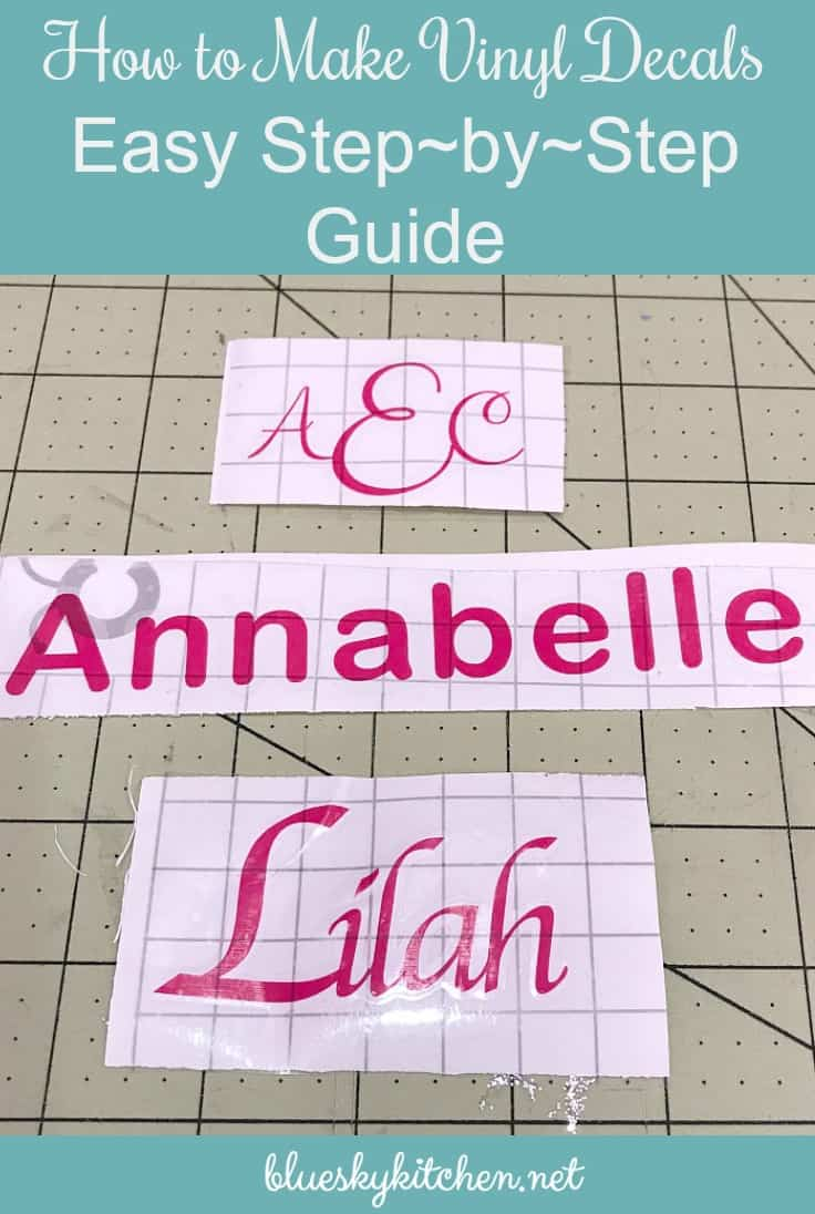 How to Make Vinyl Decals ~ Easy Step~by~Step Guide. Making vinyl decals for home organization and decor will be easy if you follow this simple tutorial.