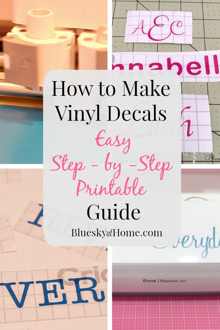 How To Make Vinyl Decals Step By