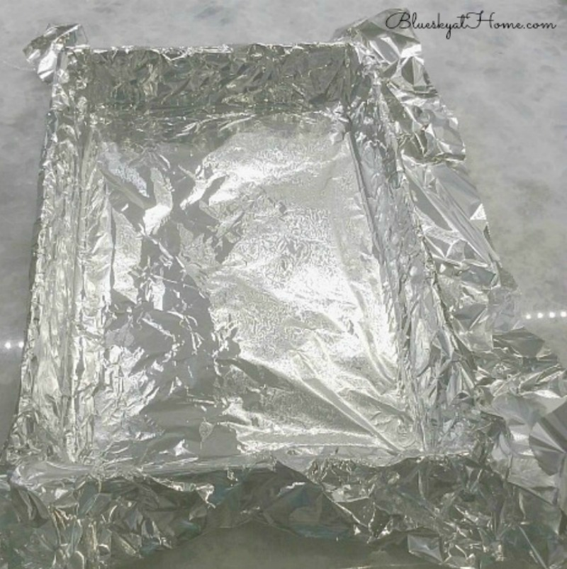 sheet pan lined with foil