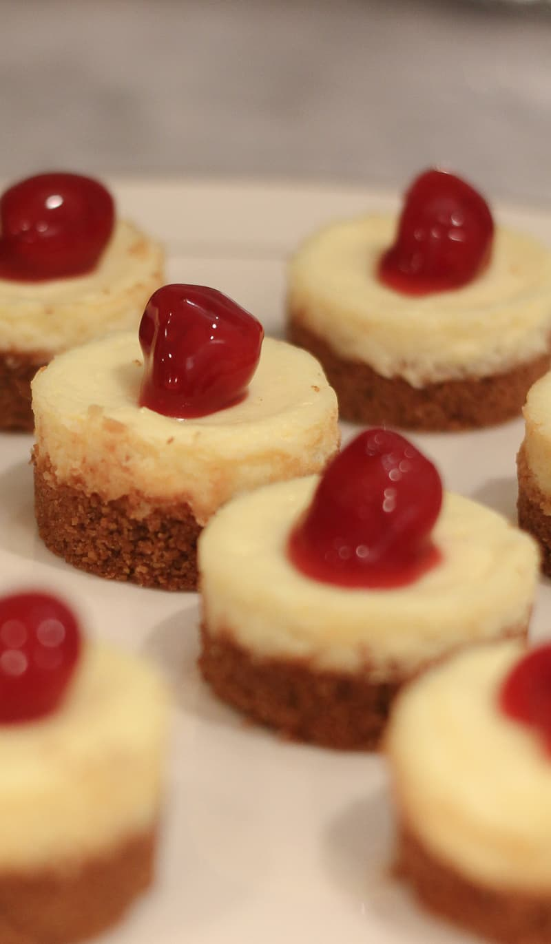 Cherry Cheesecake Tarts for a SpecialHoliday Dessert. These mini~size desserts are a delicious treat for any holiday party. BlueskyatHome.com