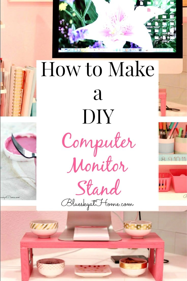 DIY computer monitor stand graphic