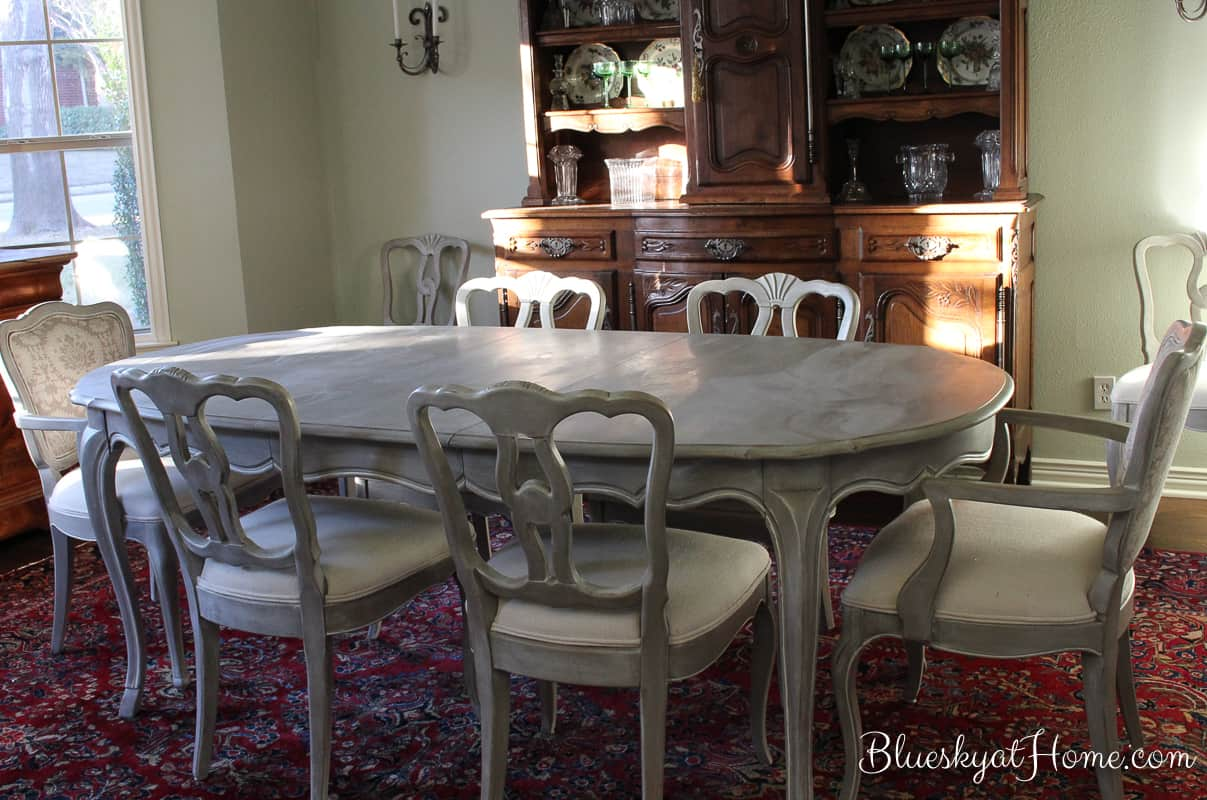 How I Transformed A Vintage Dining Table With Paint. Repurposing Vintage Or  Thrift Store Furniture