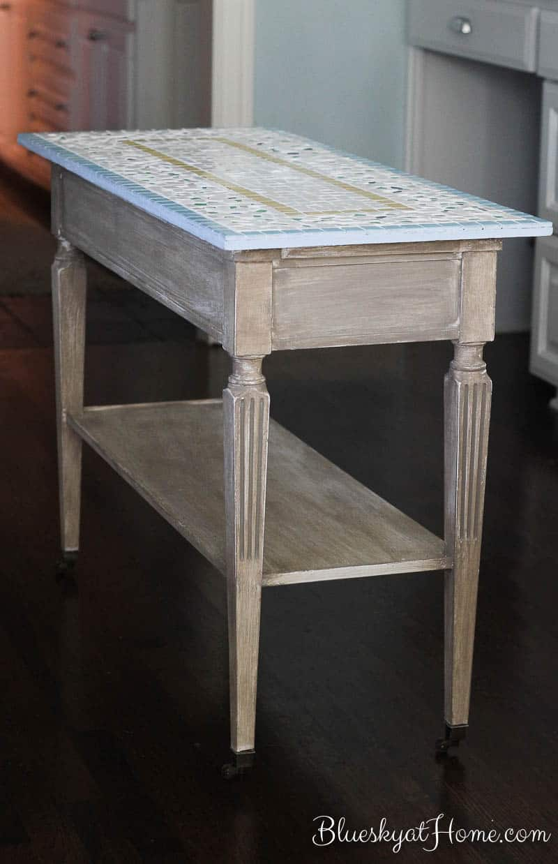How to Turn a Console Table into a Kitchen Island ~ Bluesky at Home