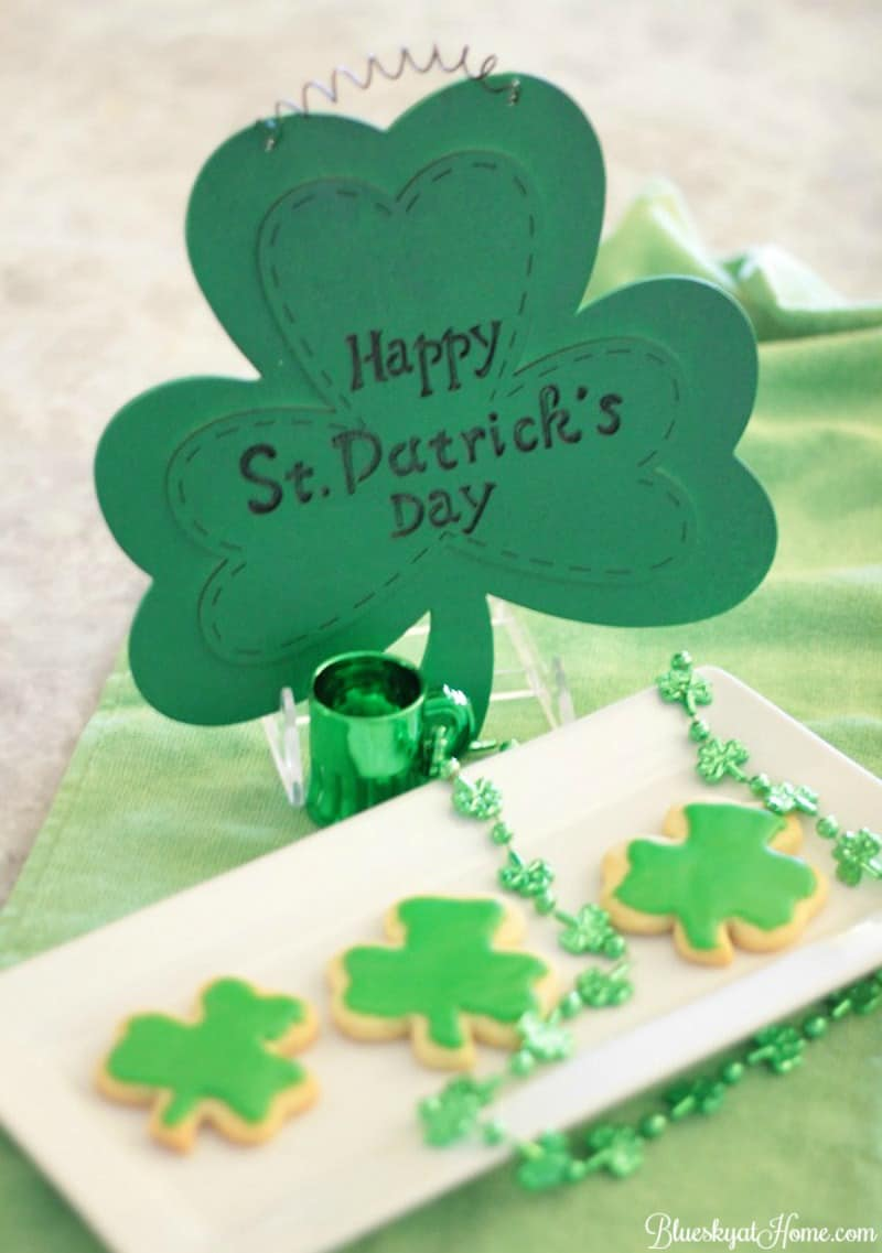 Cute And Easy Shamrock Cookies For St Patrick S Day