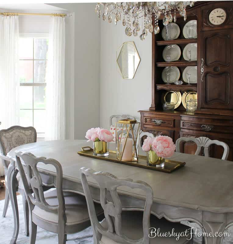 How To Transform A Vintage Dining Table With Paint Bluesky