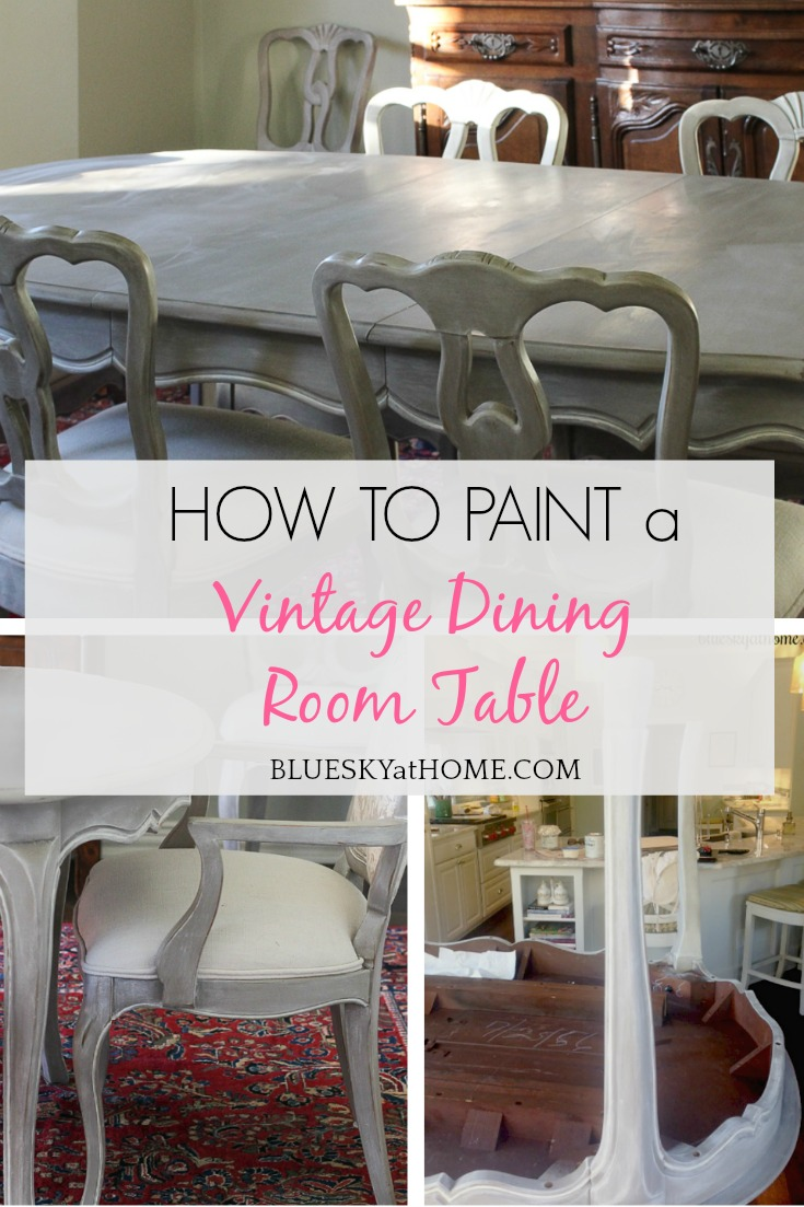 How To Paint A Vintage Dining Table Bluesky At Home
