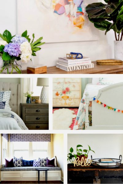 5 Beautiful Bedroom Makeovers ~ A ORC Round~Up. Creativity inspires gorgeous bedroom ideas. BlueskyatHome.com #bedroommakeovers #bedrooms #bedroomideas