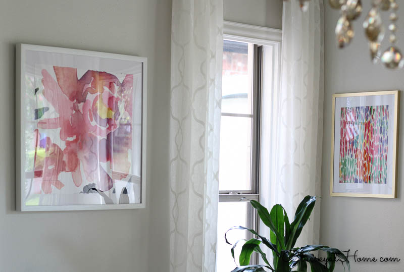 How to Make Fabric into Inexpensive Art ~ Bluesky at Home