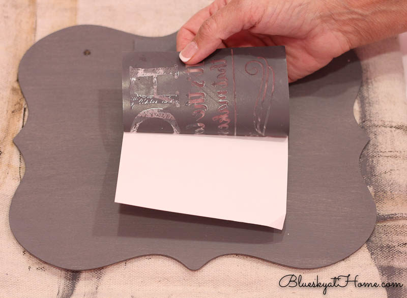 separating stencil form backing