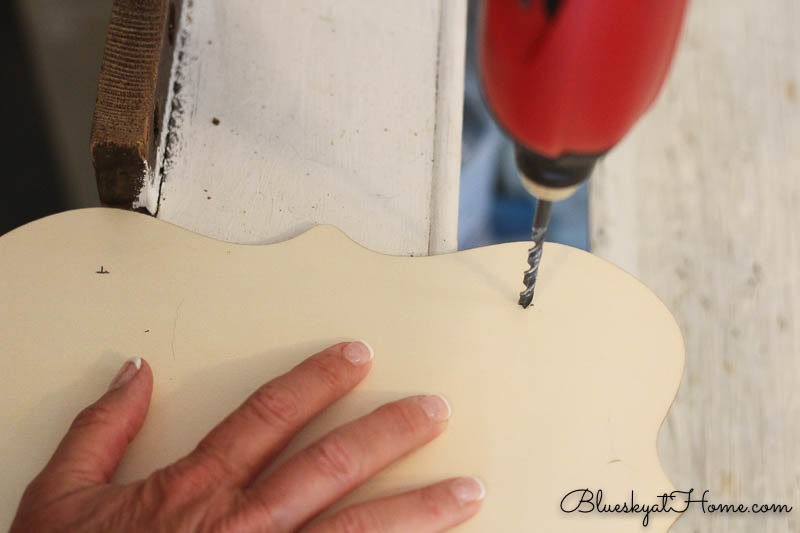 drilling hole in plaque