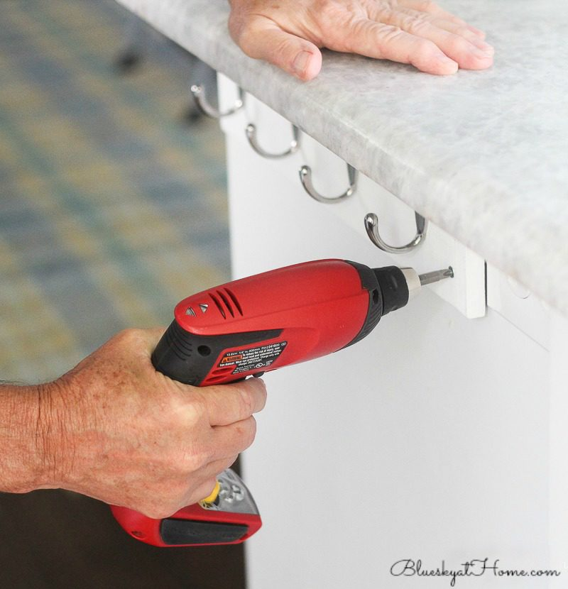 drilling hooks for dish towels