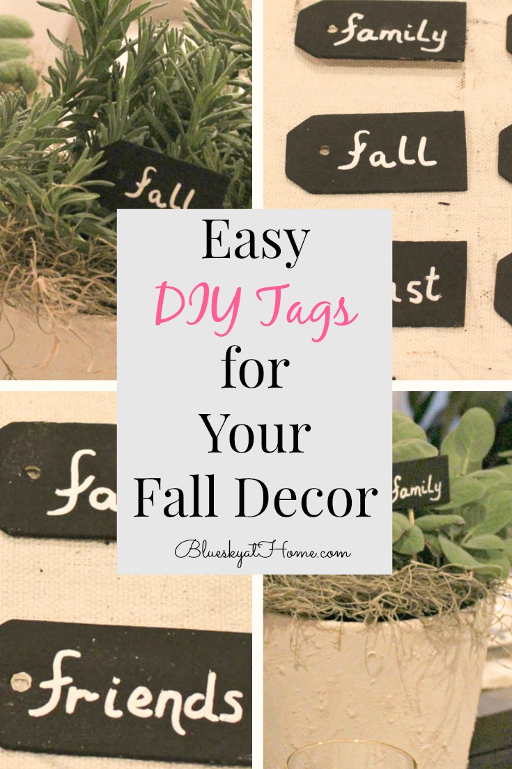 Easy DIY Tags for Your Fall Decor.