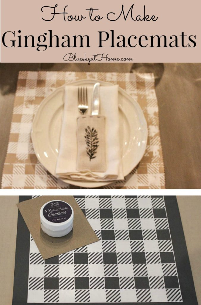 making gingham placemat graphic