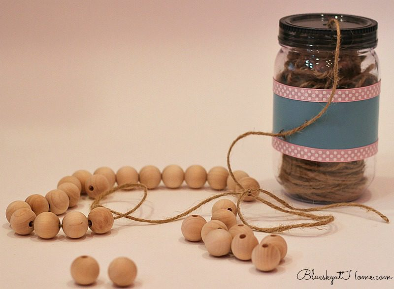 making wooden beads