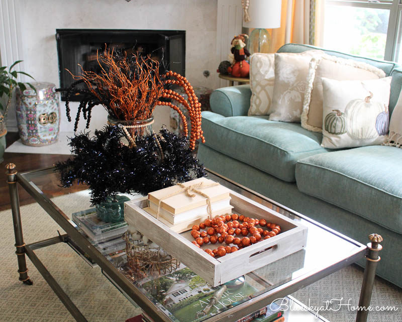How to Rearrange Halloween Decor for 2018. Rearrange and update your Halloween decorations throughout your house for a fresh Halloween scene. BlueskyatHome.com #halloweendecor #halloweendecorations #decoratingforhalloween