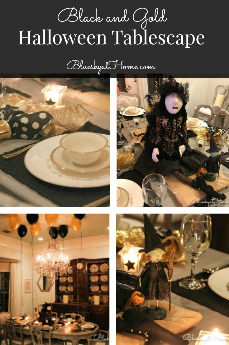 Black And Gold Halloween Tablescape Bluesky At Home