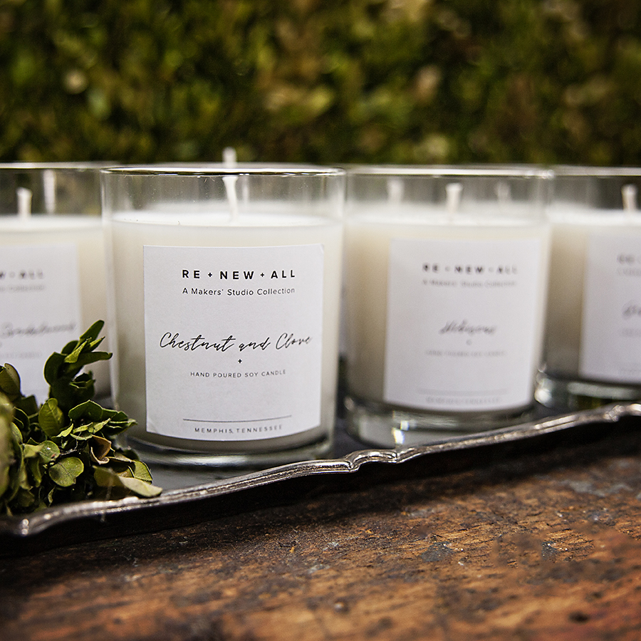 Re+New+All Candles from A Maker's Studio