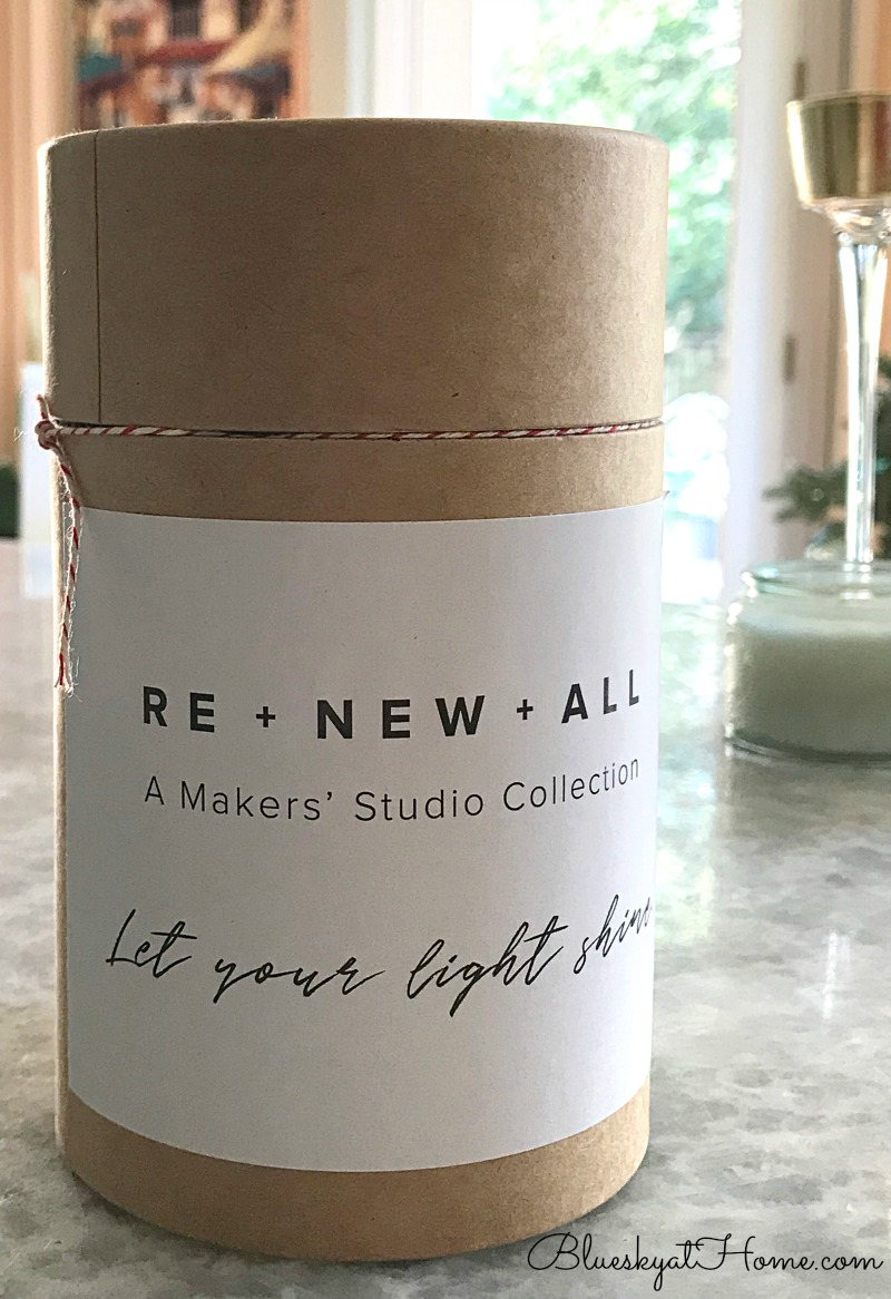 RE + NEW + ALL candle box