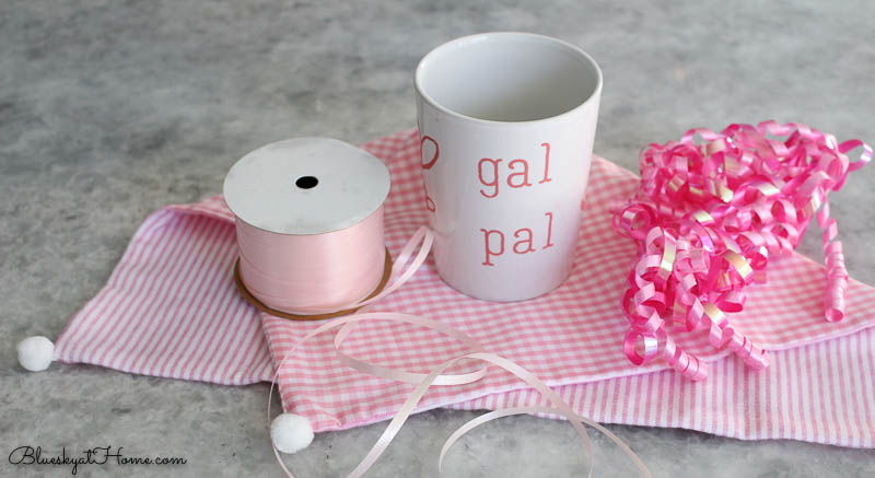 pink wrapping for valentine gift