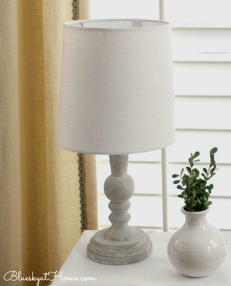 lamp with white shade