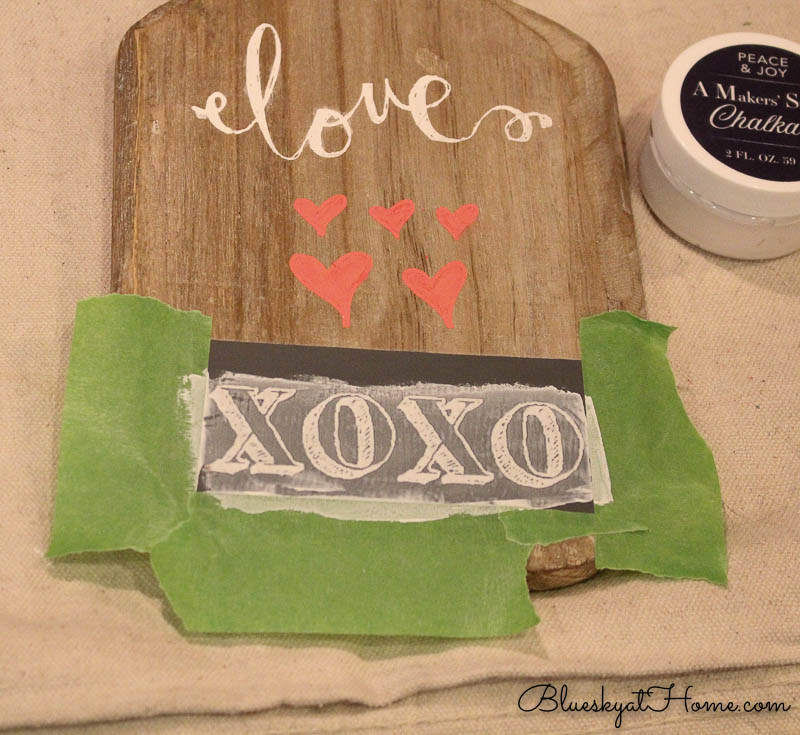 stenciling vintage cutting boards