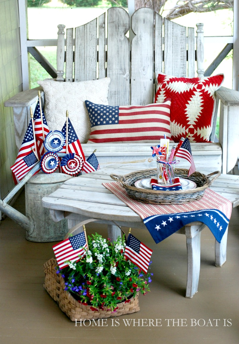 4th of July Vignette from Home is Where the Boat Is